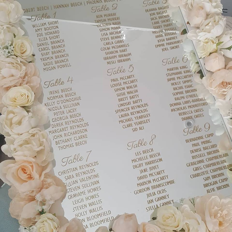 Flower Wall Hire London Essex Hertfordshire Save The Date