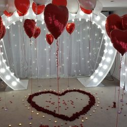 light up heart arch