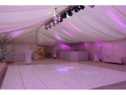 led white starlit dance floor to hire in Bucks
