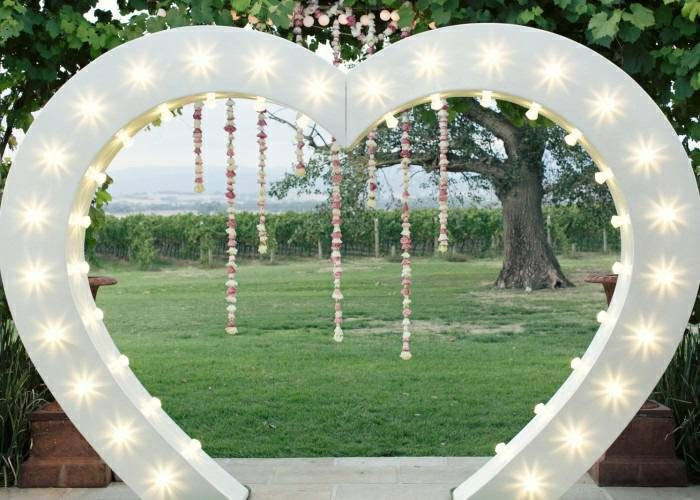 LED Love Heart Light Up Arch Hire North London