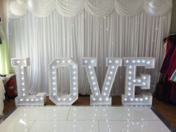 hire our Light up Letter and Heart Arch Hire in London