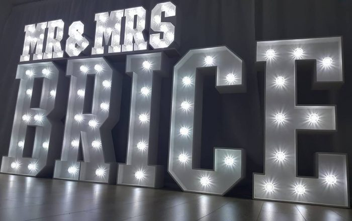 Light Up Letters Hire Surname