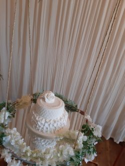 rustic cake swing hire