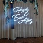 neon wedding sign hire