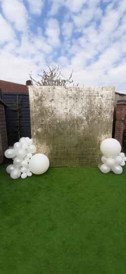 Gold sequin wall